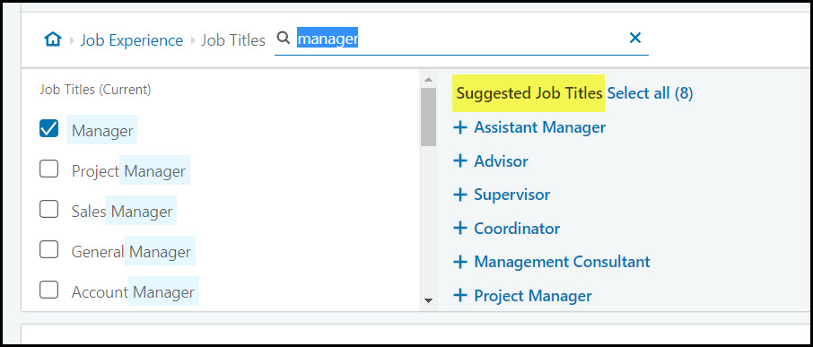 suggestions for Job Title